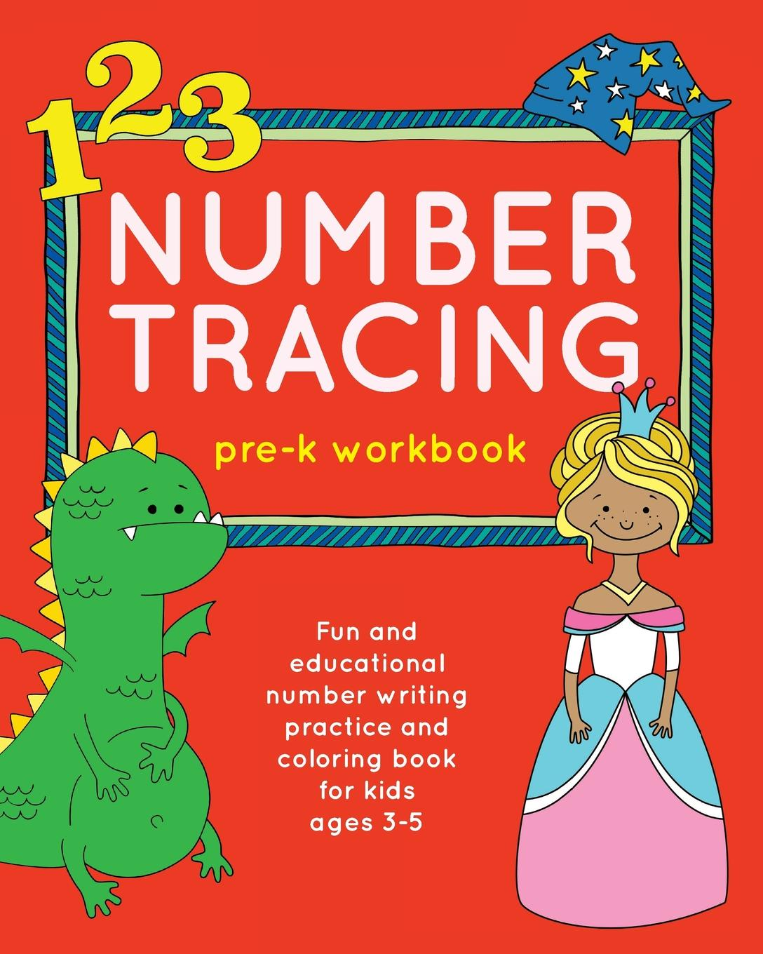 Number Tracing Pre K Workbook Fun And Educational Number