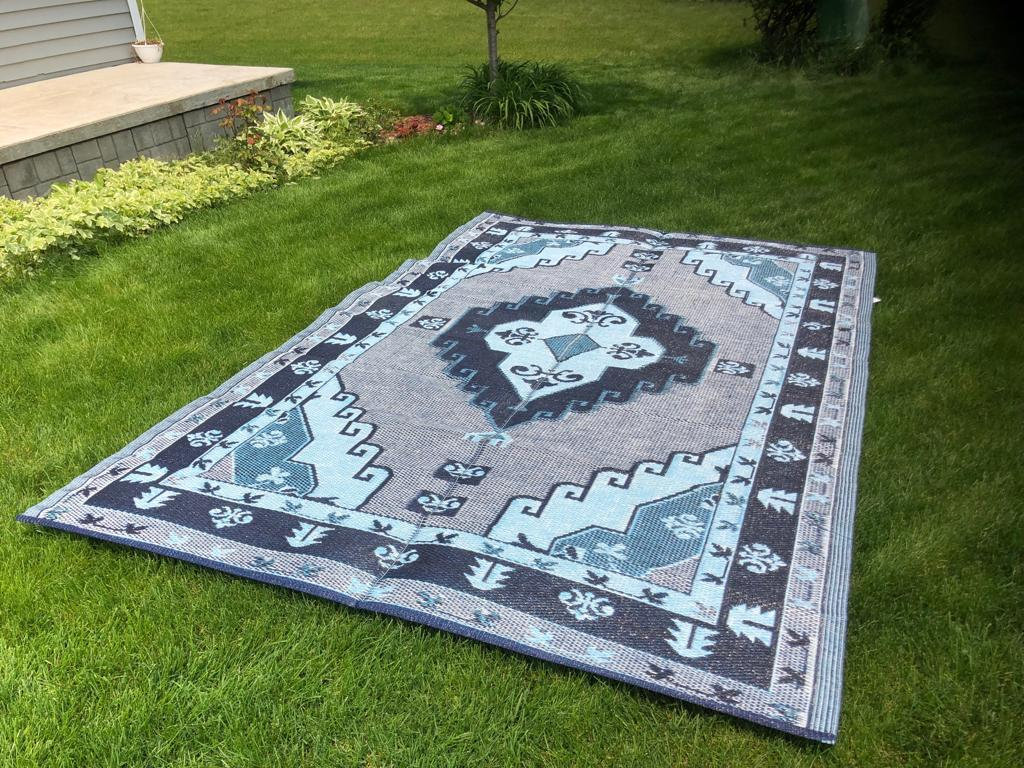 balajeesusa 6 x9 indoor outdoor plastic straw patio rug rv mat camping reversible beach mat 20140