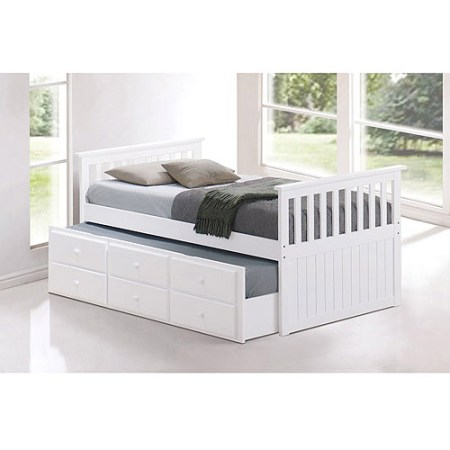Broyhill Kids Marco Island Twin Captain S Bed With Trundle And Drawers White