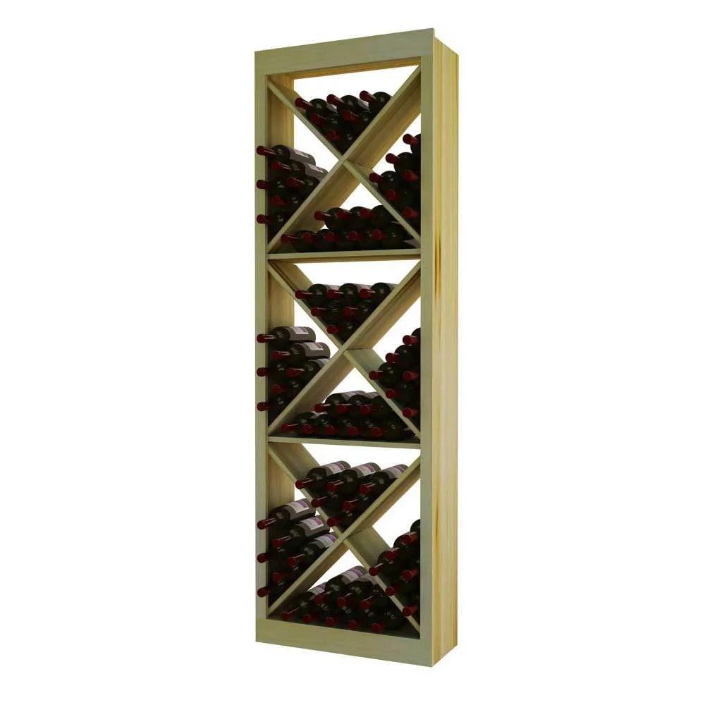 country pine series 132 bottle open diamond cubes wine rack