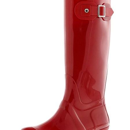 Exotic Identity Women's Original Tall Perfect Fit Knee-High Rain Boot - 8M - Gloss Red