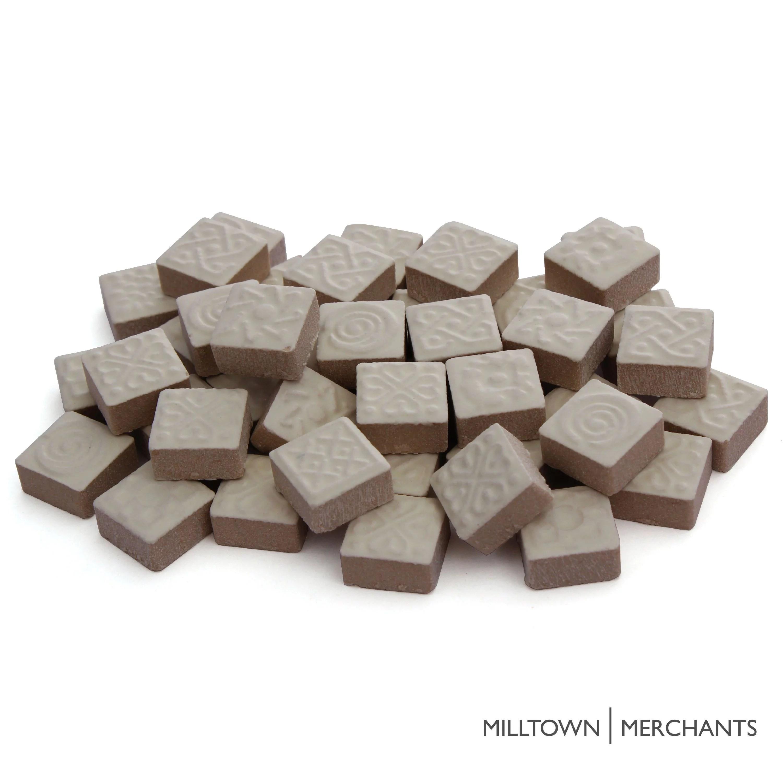 milltown merchants ceramic mosaic tile pieces bulk mandala mosaic tiles tile assortment for backsplash stepping stones and mosaics walmart com