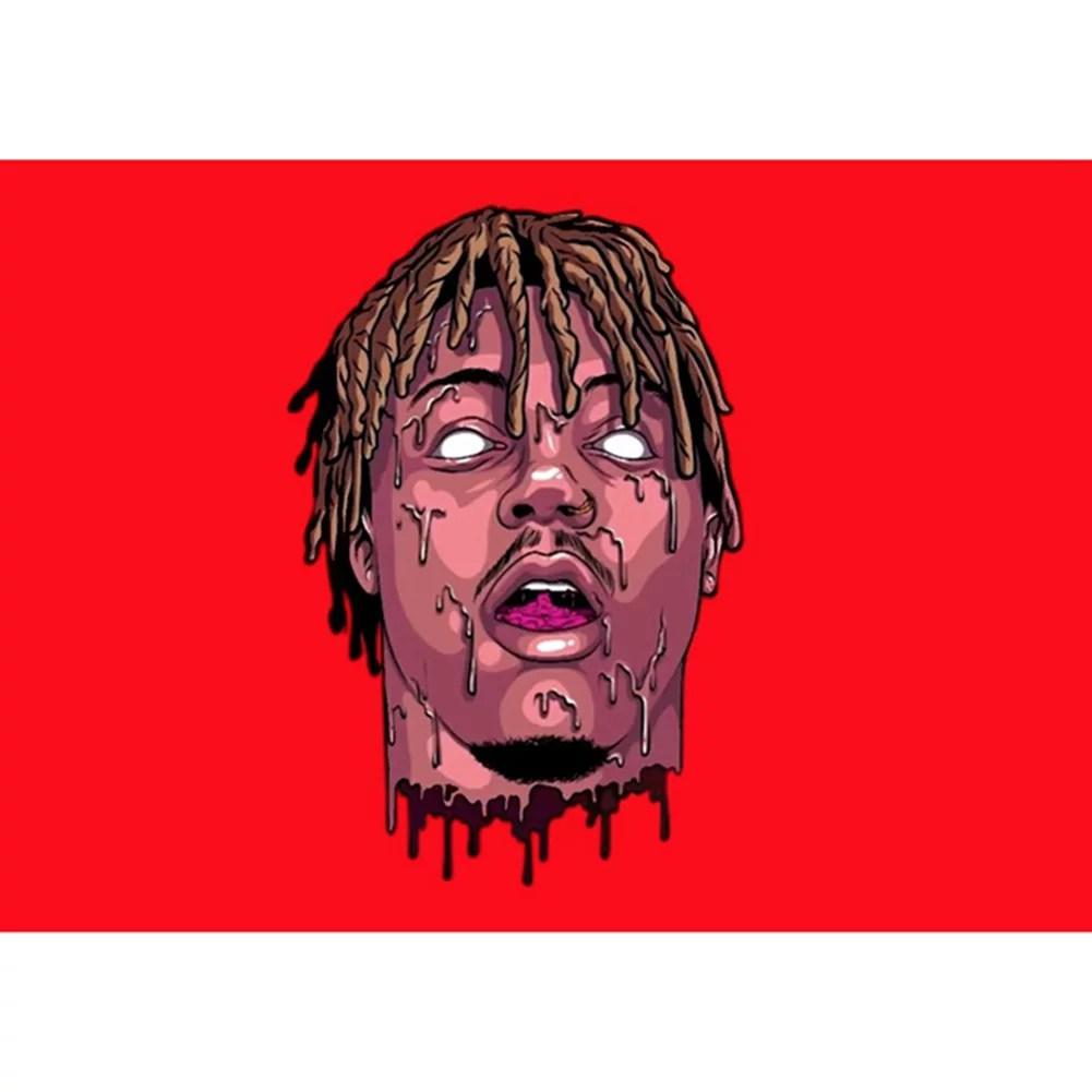 hit upon juice wrld poster hip hop rapper vintage unique painting pop art wall decor 42x30cm poster print