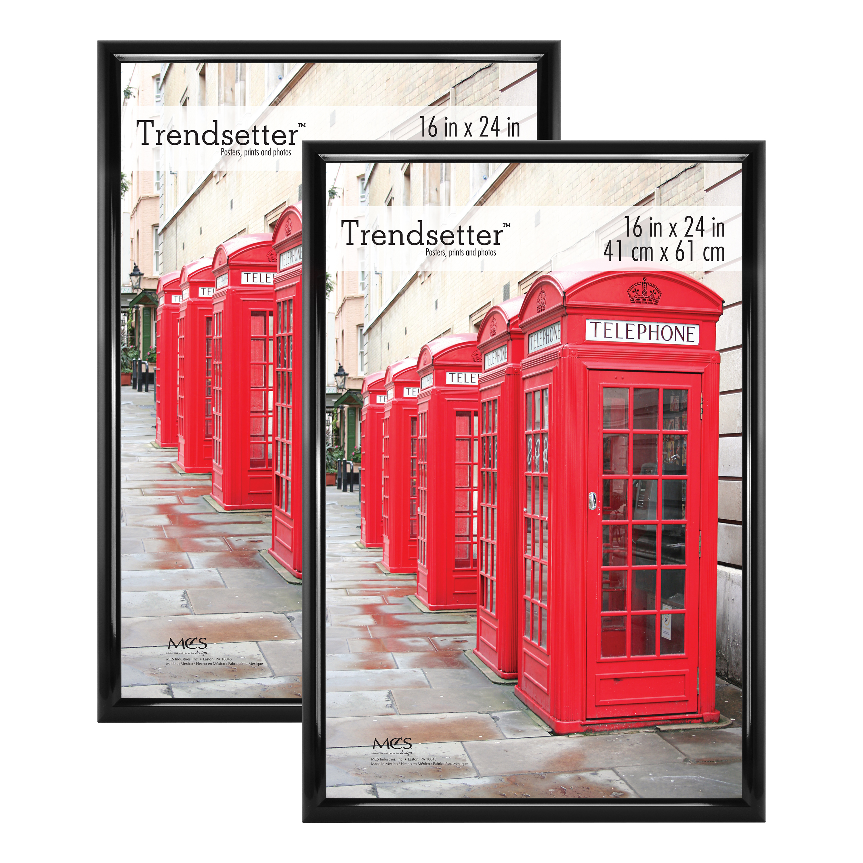 mainstays 16x24 trendsetter poster and picture frame black set of 2 walmart com