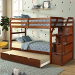 Modernluxe Twin Over Twin Stair Bunk Bed With Storage Ladder And Trundle Walmart Com Walmart Com