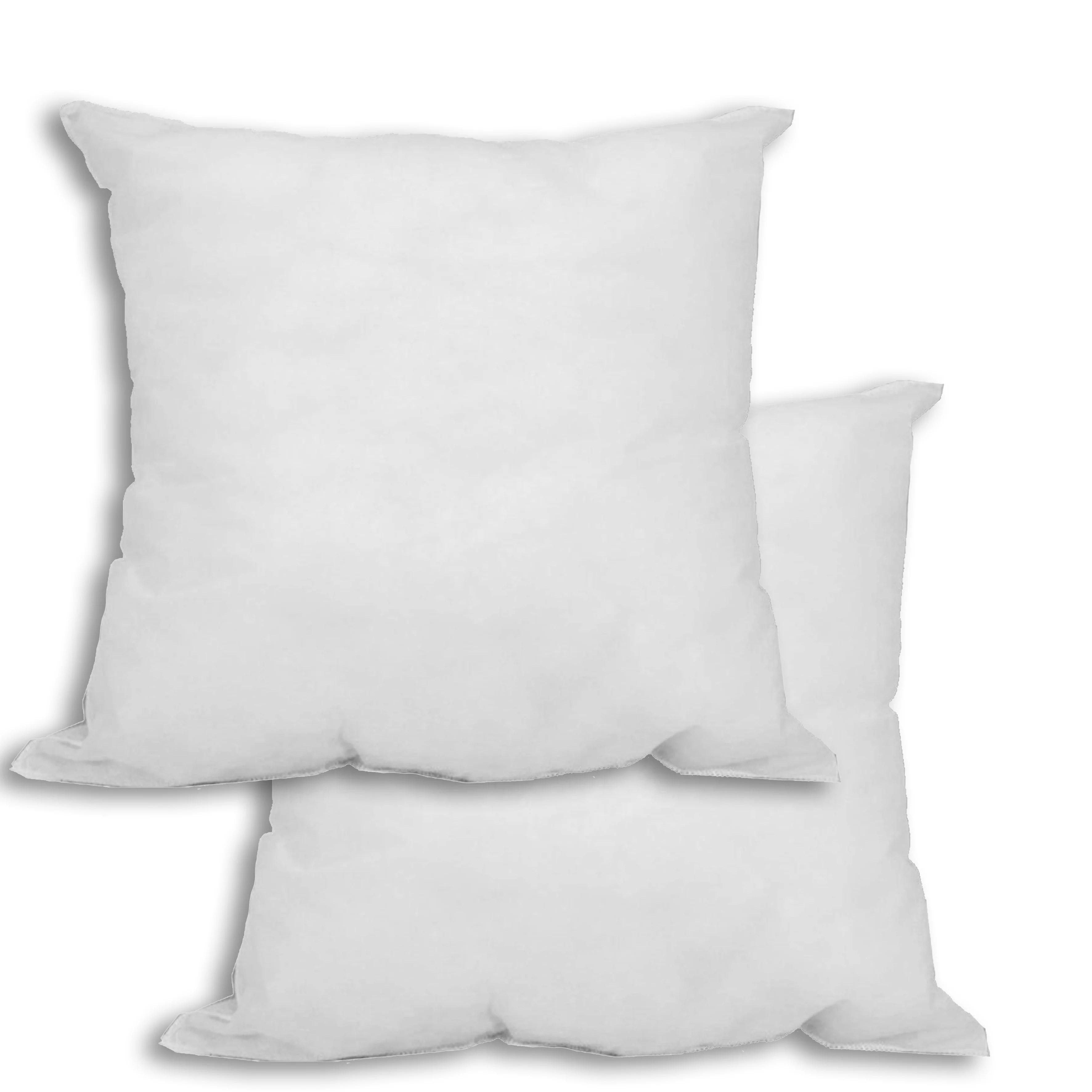 set of 2 20 x 20 premium hypoallergenic stuffer pillow insert square white walmart com