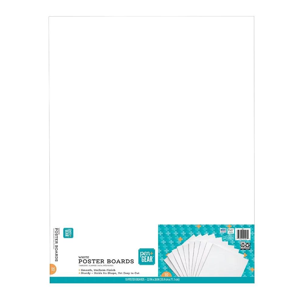 pen gear white poster board 22 x28 10 pack