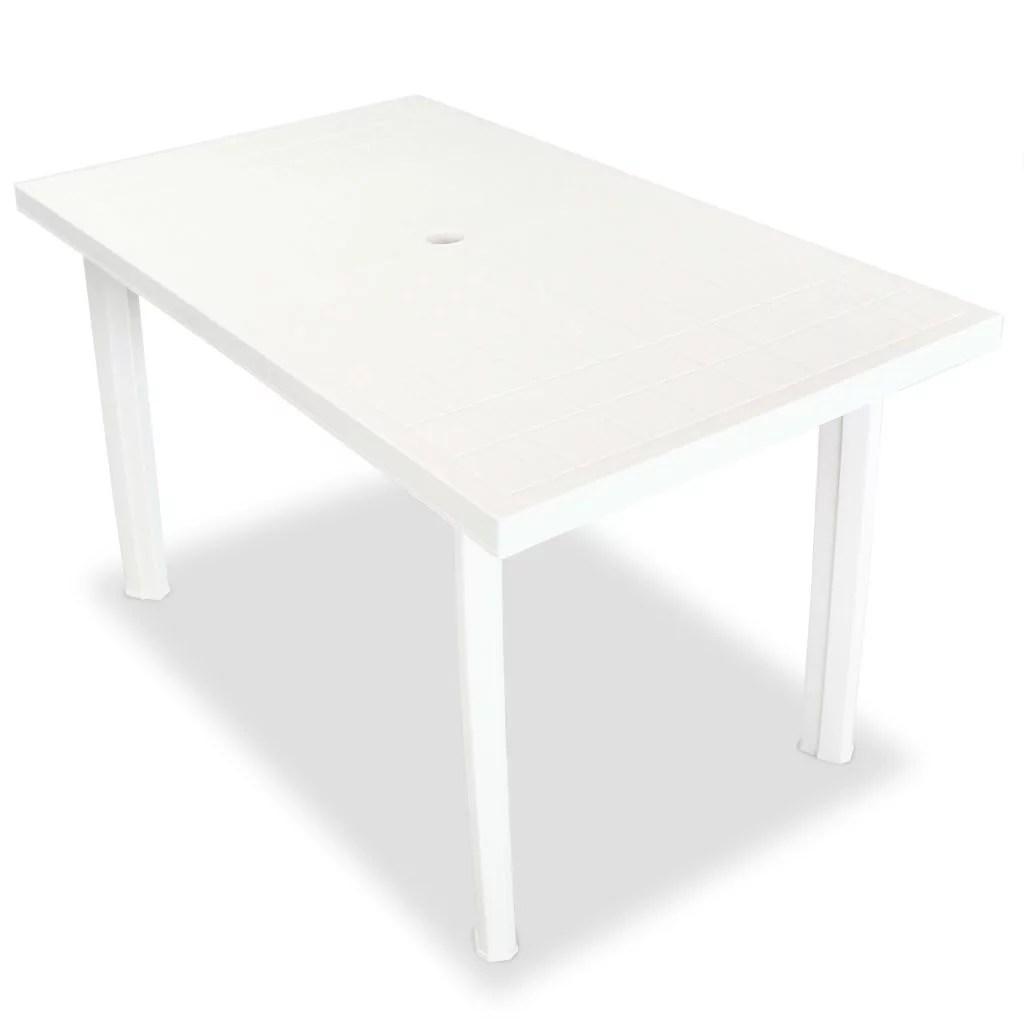 fdit garden table white 49 6 x29 9 x28 3 plastic outdoor tables white