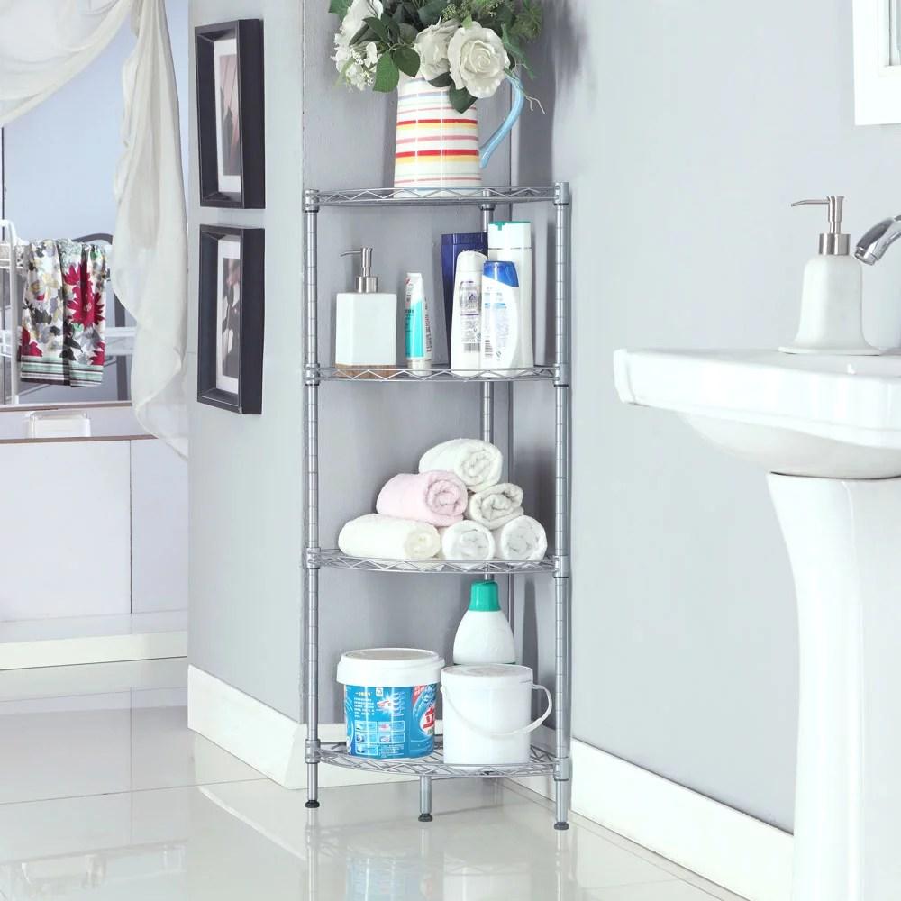 Top Knobs 4-Tire Corner Wire Shelf Bathroom Corner Shelf ... on Bathroom Corner Shelf  id=16729