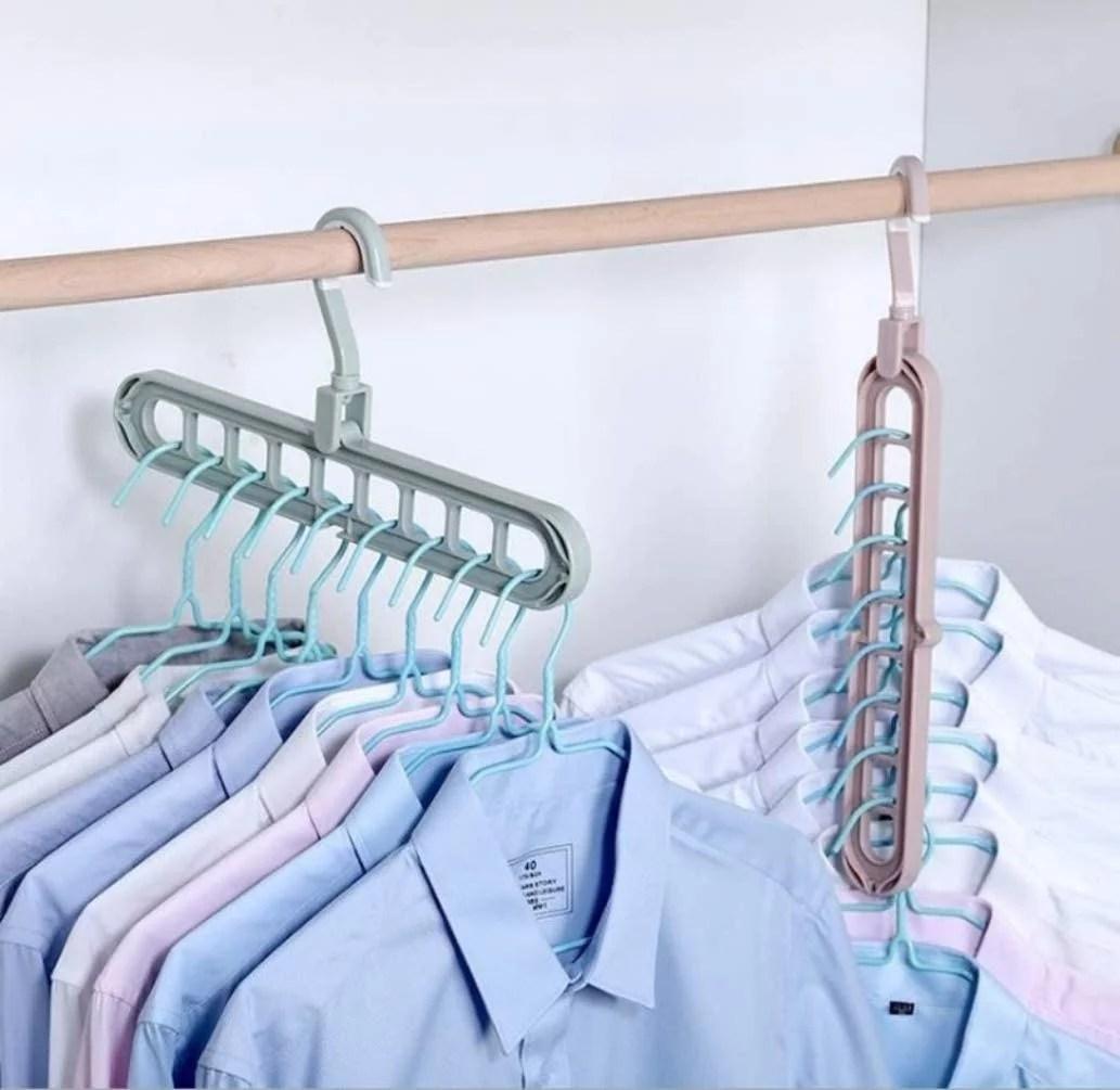 1pc Multi-Port Space Saver Magic Hanger Clothes Closet ... on Closet Space Savers Walmart  id=32903