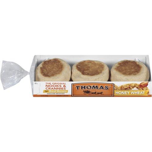 Thomas39 Nooks Crannies Honey Wheat 6 Ct English Muffins