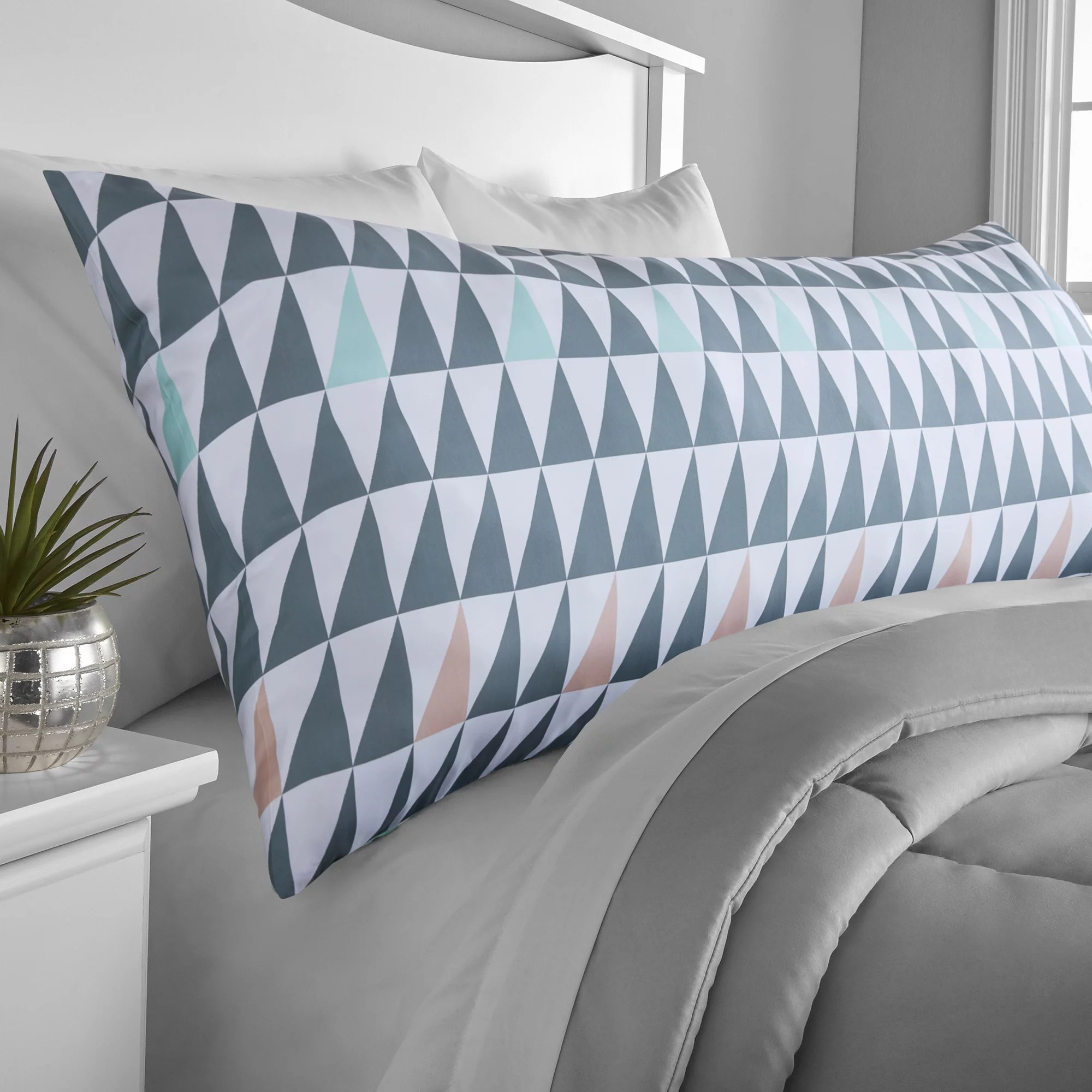 mainstays microfiber printed body pillow cover 1 each