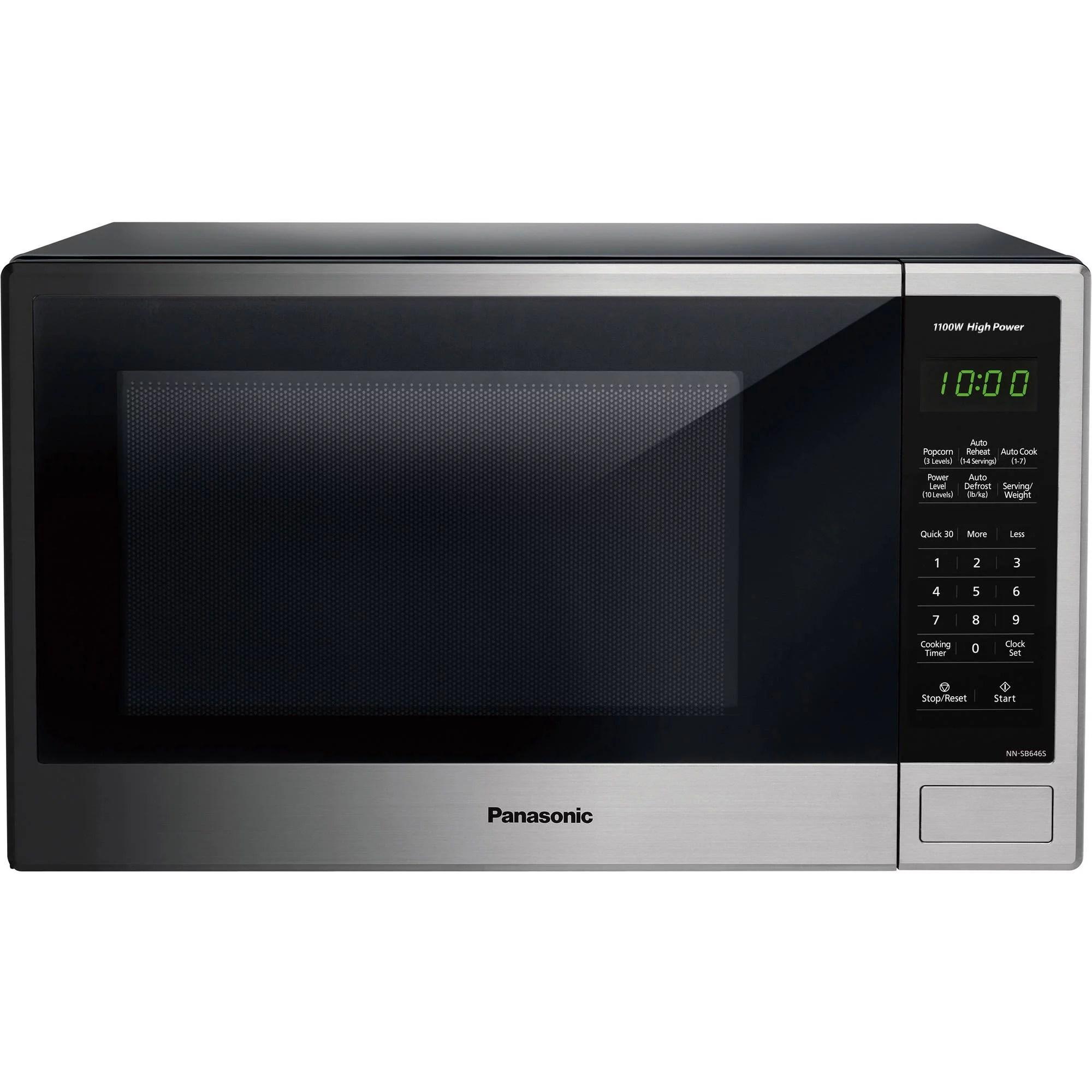 panasonic 1 3 cu ft 1100w countertop stainless steel microwave oven with genius sensor