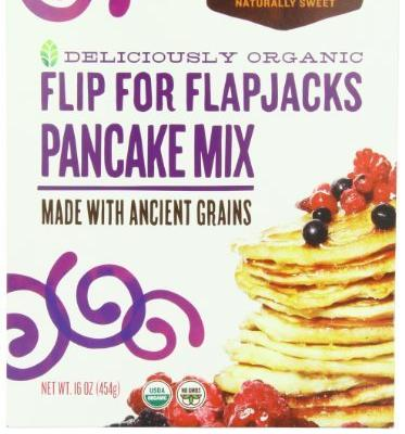 6 Pack Madhava Organic Pancake Mix With Ancient Grains