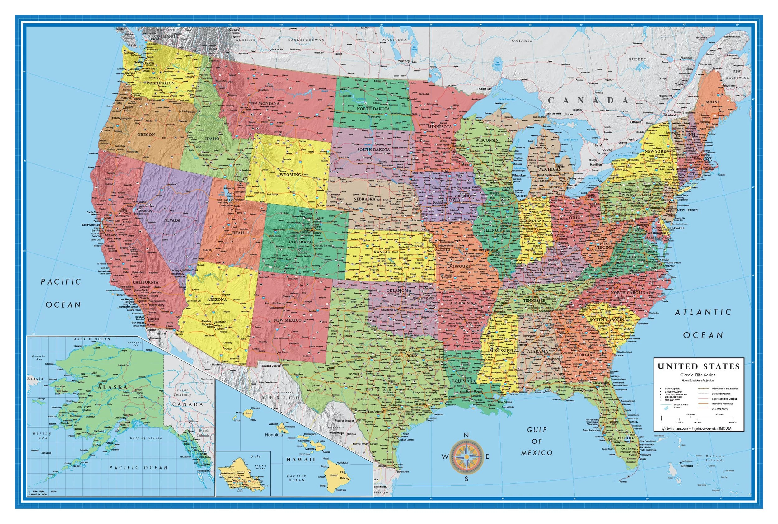 Google maps online provide a way to see your location on the map and you can use it for fun, lessons about map reading, to locate your parked car or to share your location with others. 48x78 Huge United States Usa Classic Elite Wall Map Laminated Walmart Com