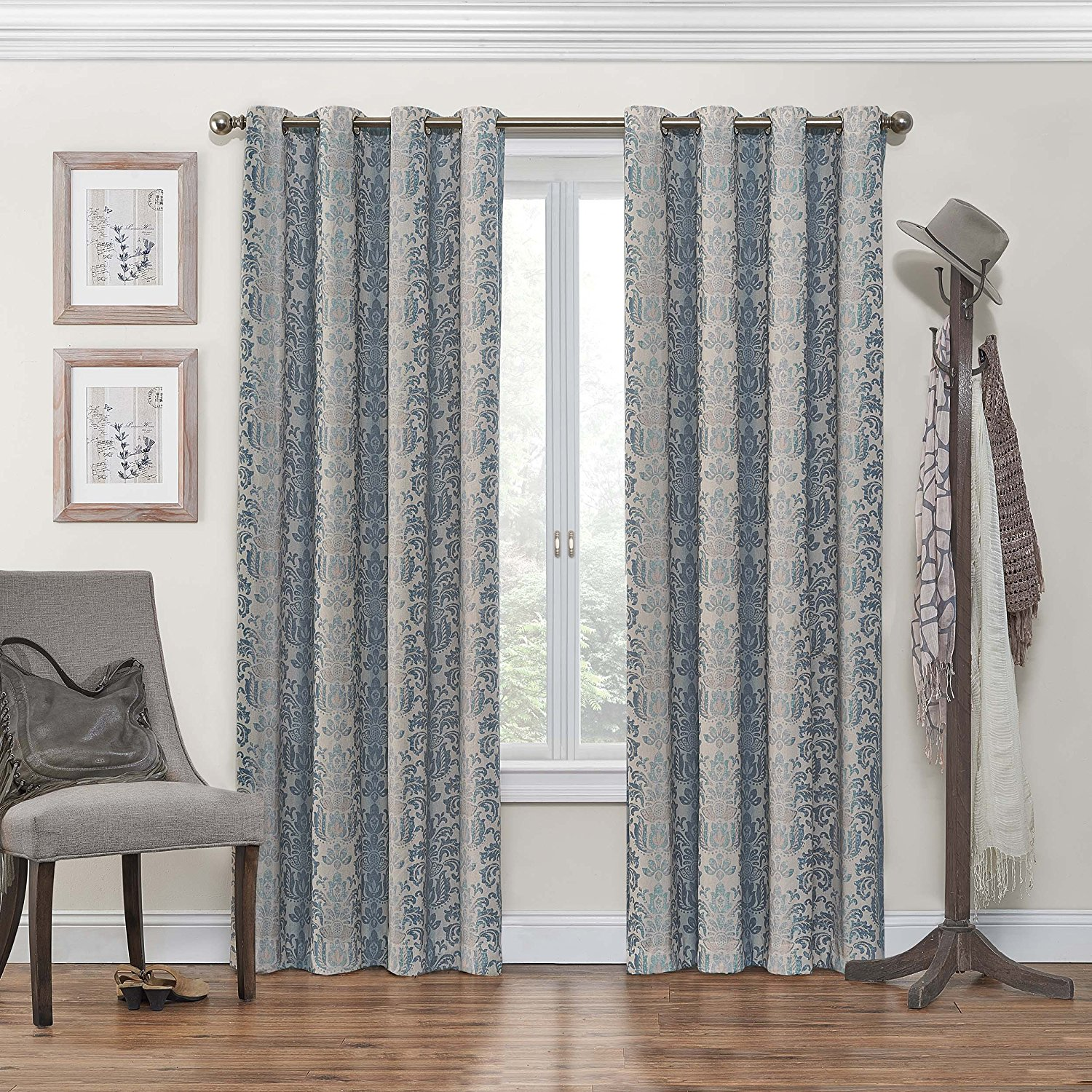 eclipse nadya grommet blackout window curtain panel 95 inch black by eclipse curtains ship from us