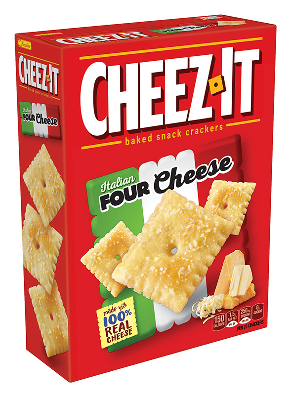CheezIt Baked Snack Cheese Crackers Italian Four Cheese