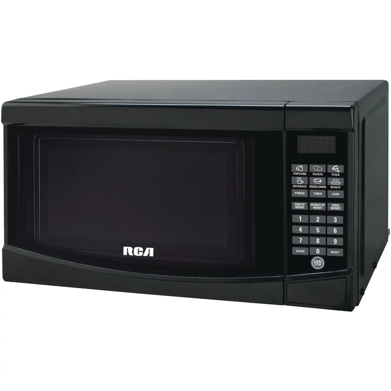 rca 0 7 cu ft microwave oven black walmart com