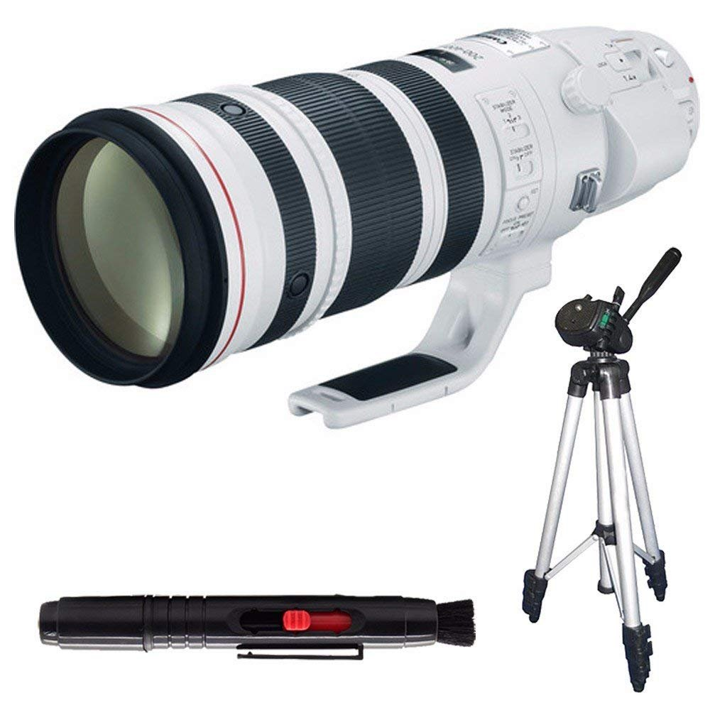 Canon EF 200-400mm f/4L IS USM Lens (International Model no Warranty) + Full Size Tripod 6AVE Bundle 9