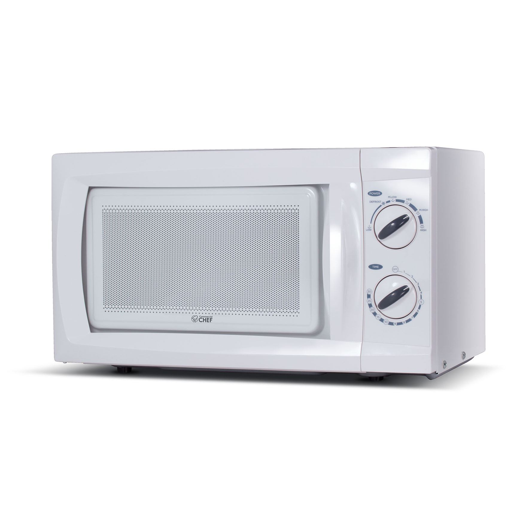 commercial chef chm660w 0 6 cubic feet microwave oven 600 watt counter top rotary white
