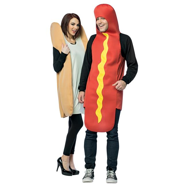 If you and your costume partner are the kind of people who are great by themselves, but so much better together, consider going as chips and salsa for your couples costume look! Hot Dog And Bun Couples Costume Unisex Party Costumes Adult One Size Walmart Com