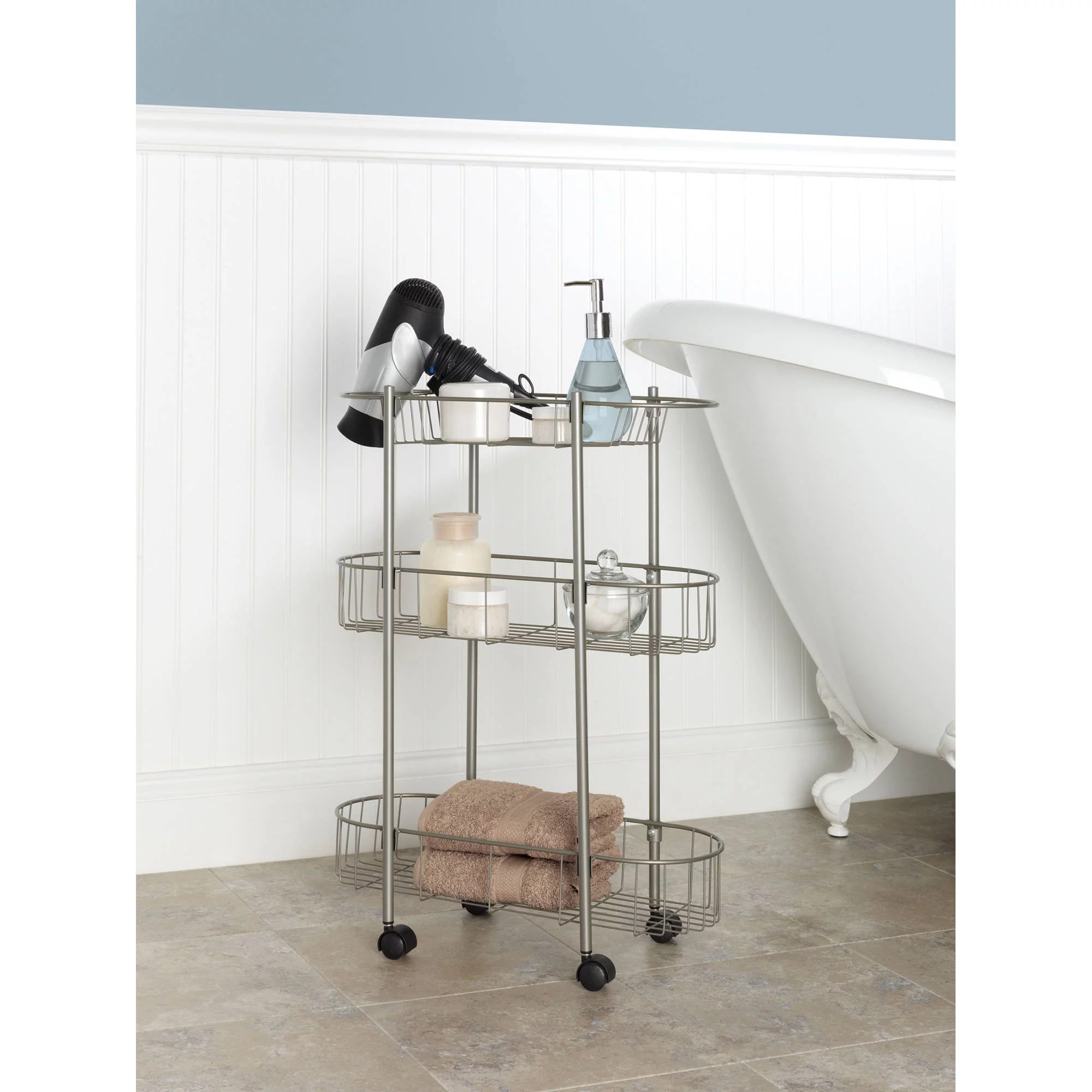 chapter rolling bathroom cart - walmart