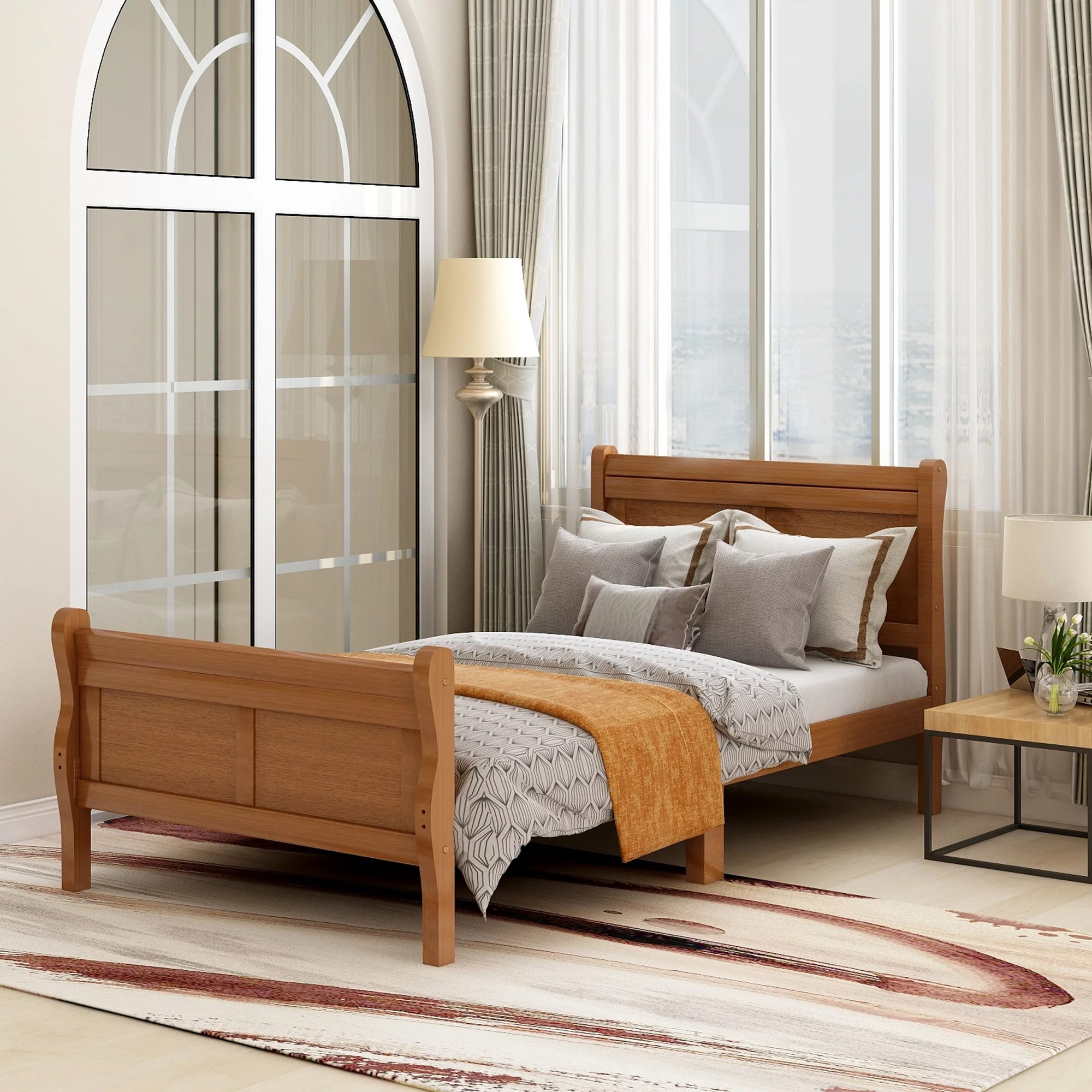 clearance twin platform bed frame heavy duty wood twin on walmart bedroom furniture clearance id=72030