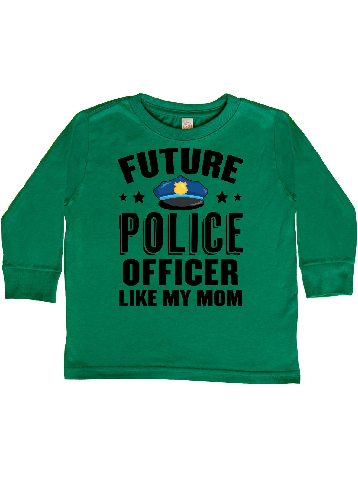 Future Police Officer Like My Mom Toddler Long Sleeve T