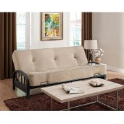 Aiden Futon Frame With 8 Innerspring Full Mattress Multiple Colors