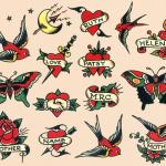 Art Rocked Cradle Deep Vintage Sailor Jerry Traditional Style Tattoo Flash Print Other Art