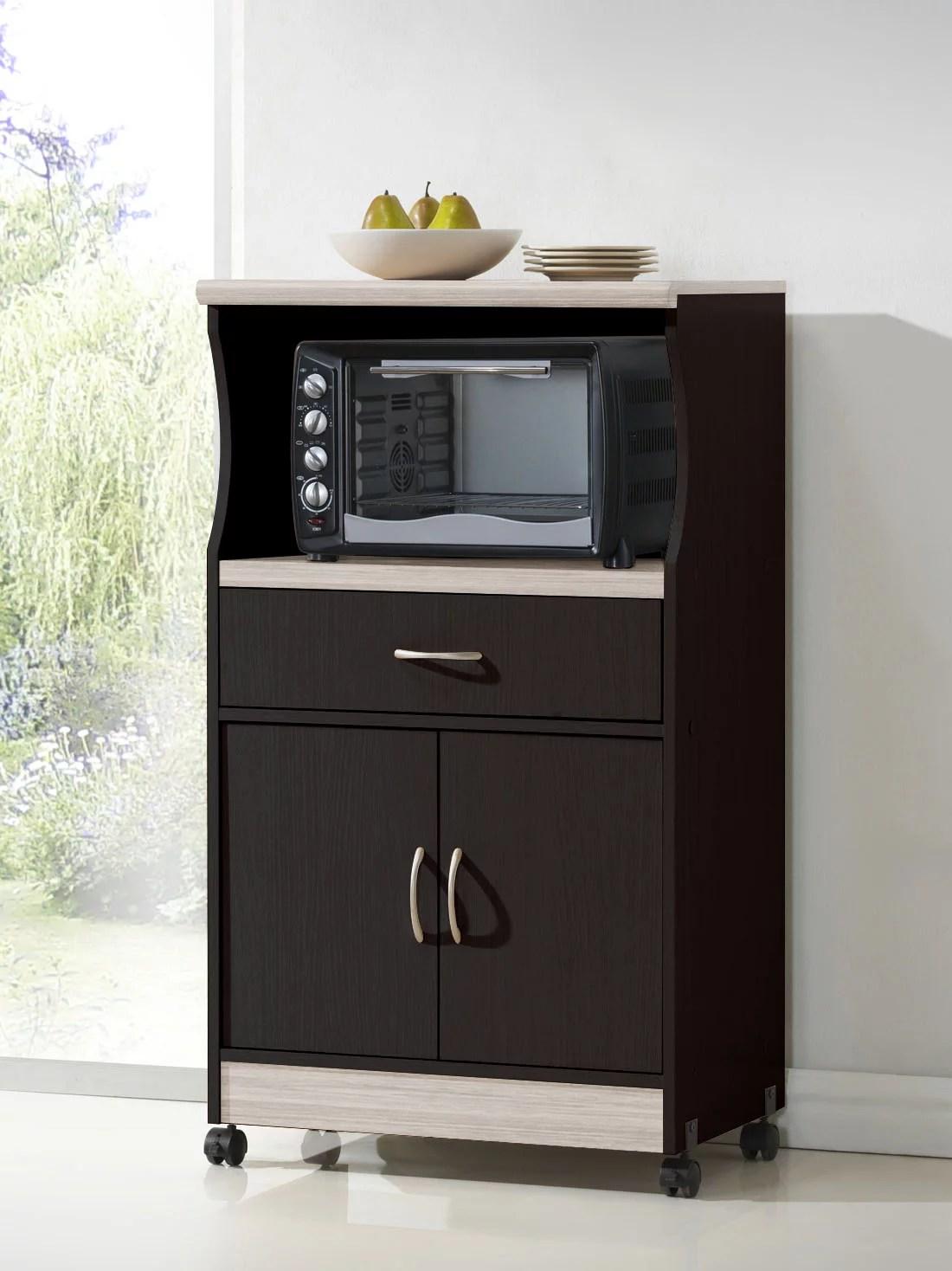 hodedah microwave cart chocolate