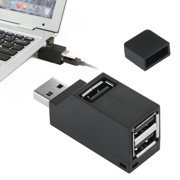 3 Port USB Hub Mini USB 2.0 High Speed Hub Splitter No ...