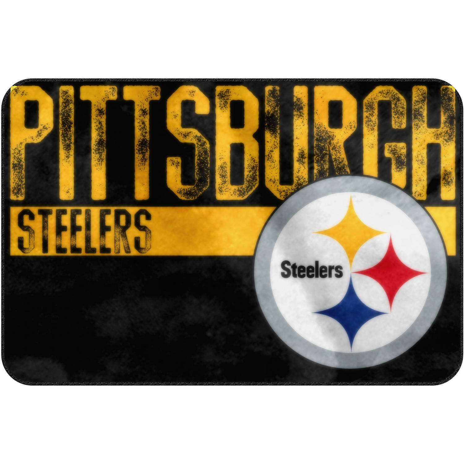 nfl pittsburgh steelers 20 x 30 worn out mat 1 each