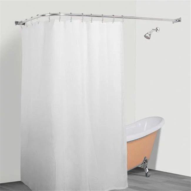 utopia alley rustproof l shaped corner shower curtain rod chrome