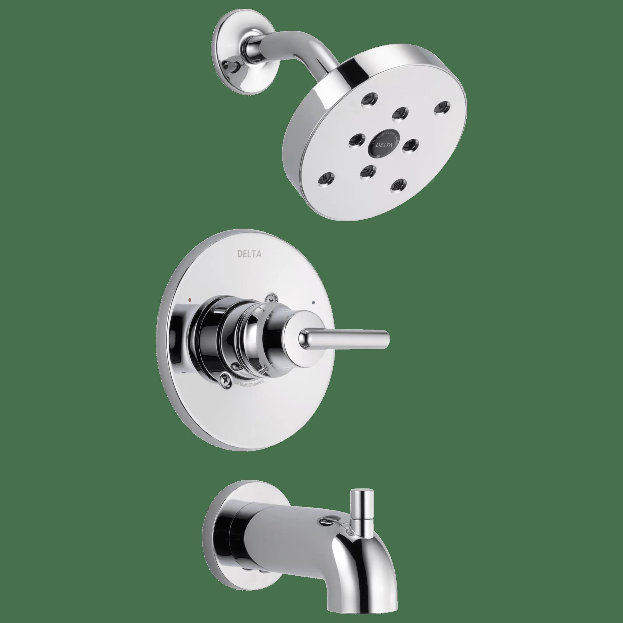 delta trinsic monitora 14 series h2okinetica tub shower trim in chrome t14459