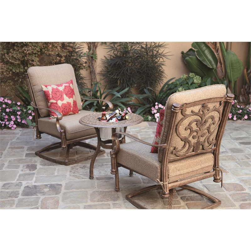 darlee santa barbara 3 patio bistro set with cushion on 3 Piece Patio Cushion Set id=36214