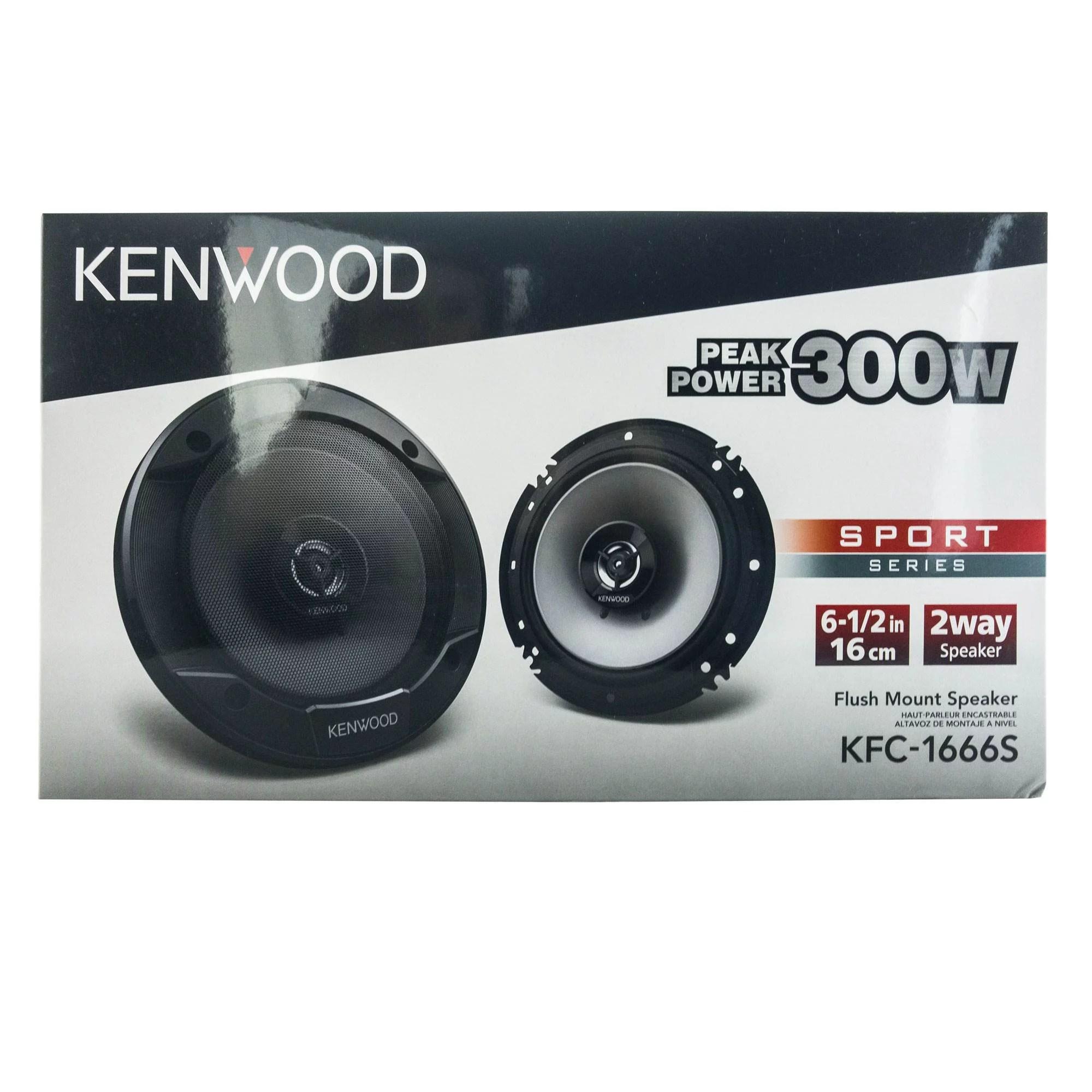Kenwood KFC-1666S 300 Watt 6.5-Inch Coaxial 2 Way Car Audio Speaker (1 Pair)