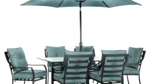 Hanover Outdoor Lavallette Table Umbrella, Ocean Blue