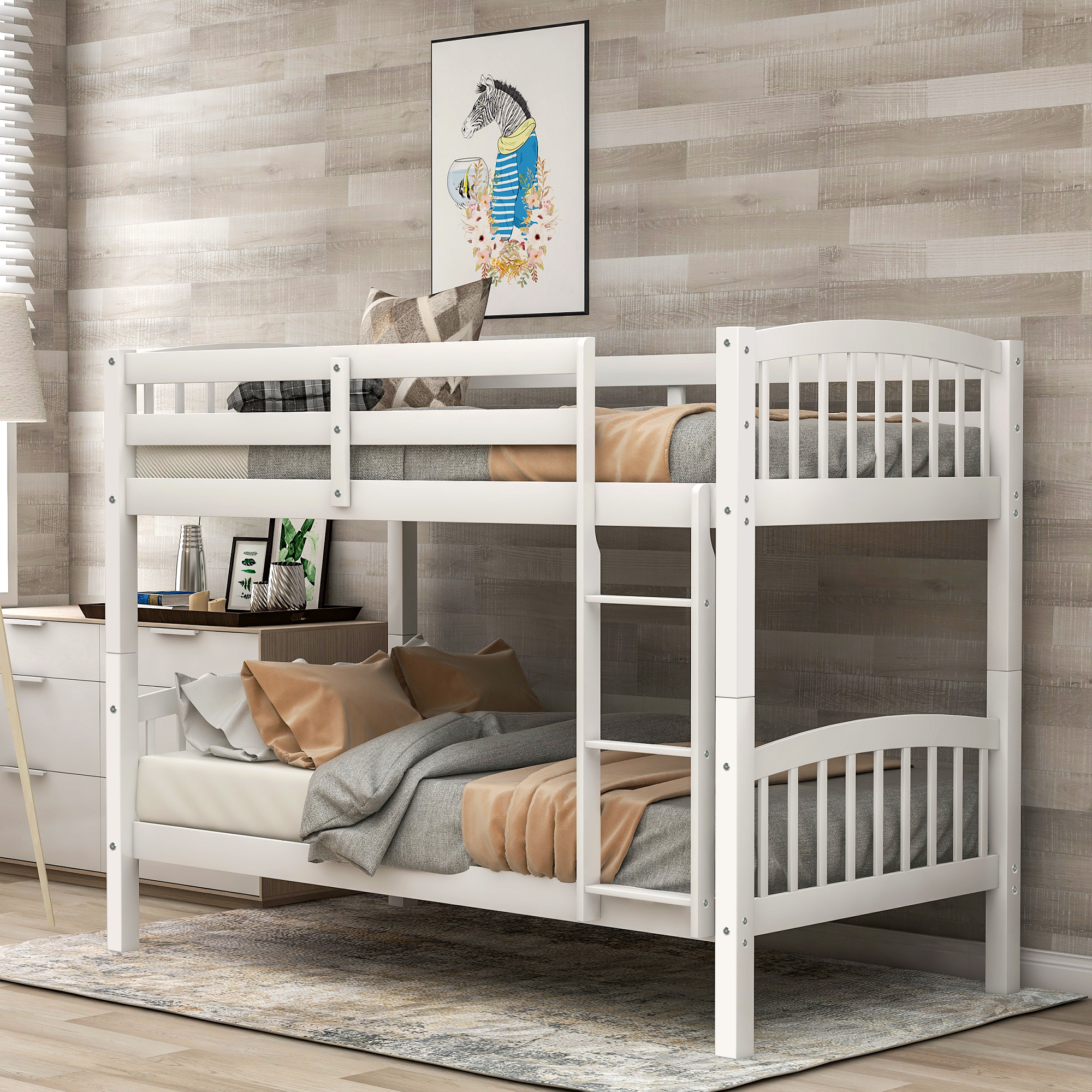 clearance kids twin over twin bunk beds urhomepro solid on walmart bedroom furniture clearance id=85510