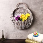 Hot Handmade Rattan Flower Pot Plant Stand Holder Diy Home Wall Hanging Seagrass Woven Wicker Basket Decor Walmart Canada