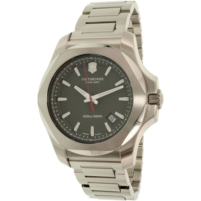Victorinox Swiss Army Men's I.N.O.X. 241725.1 Silver Stainless-Steel Swiss Quartz Fashion Watch