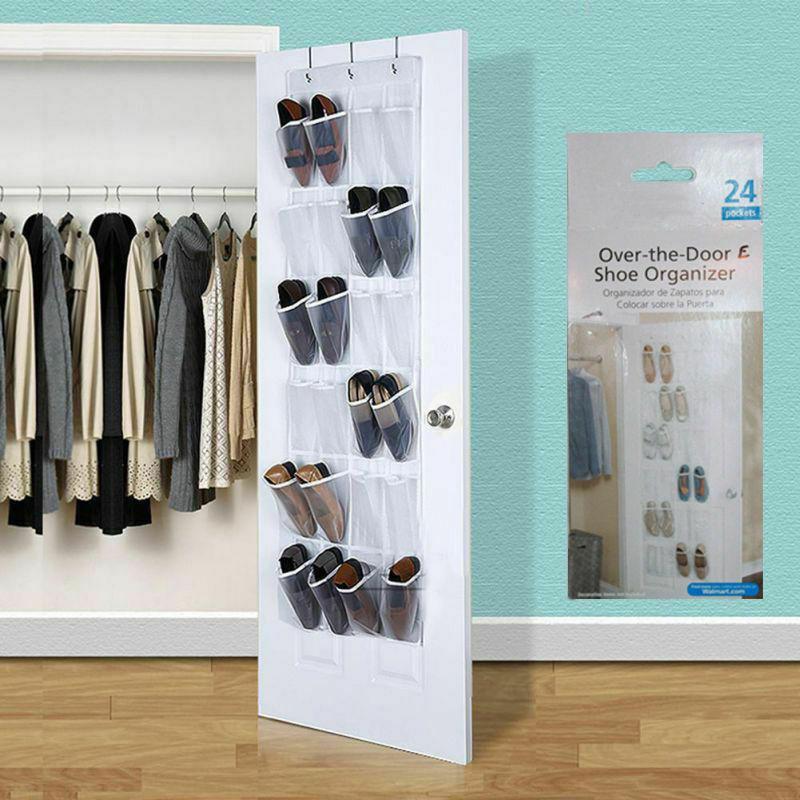Kingslim 24 Pocket Over the Door Shoe Organizer Hook ... on Closet Space Savers Walmart  id=78332