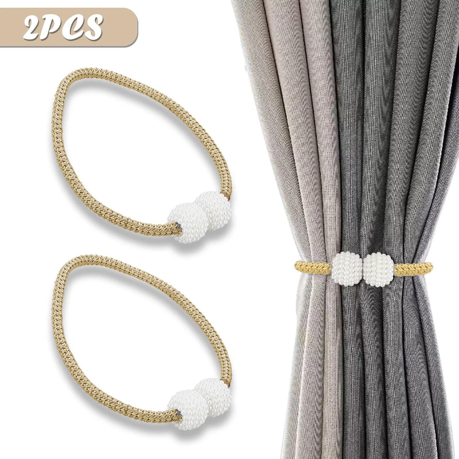 magnetic pearl ball curtain tiebacks tie backs holdbacks buckle clips accessory walmart com