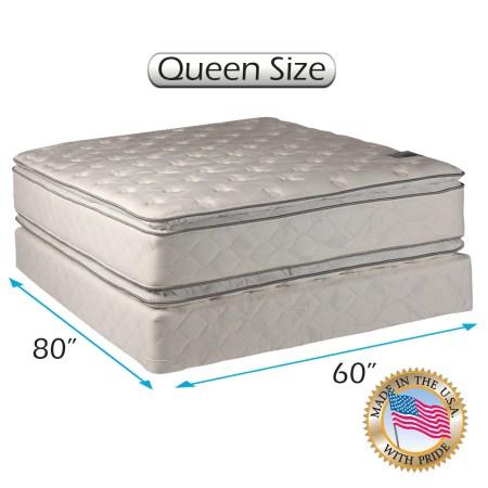 Comfort Princess Plush Pillow Top Queen Size 60 X80 X12 Mattress And Box