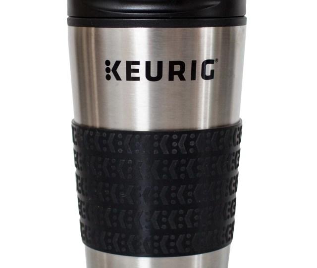 Keurig Oz Stainless Steel Insulated Coffee Travel Mug Fits Under Any Keurig K