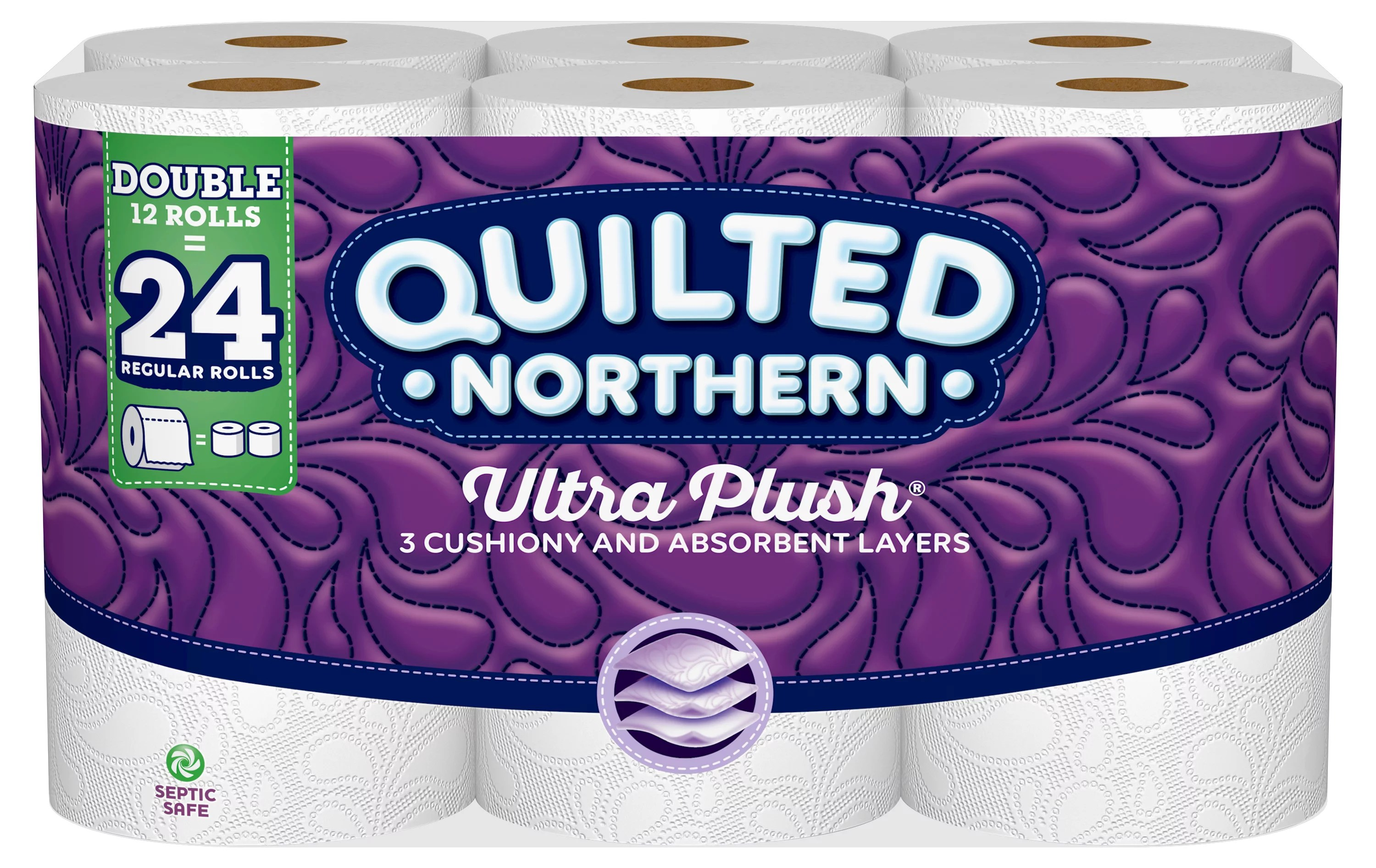 Quilted Northern Ultra Plush Toilet Paper, 12 Double Rolls