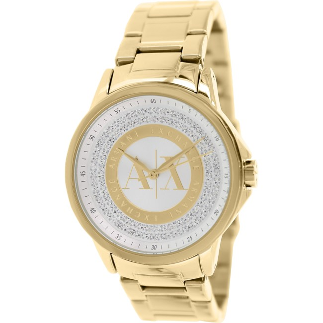 Armani Exchange Women's AX4321 Gold Stainless-Steel Plated Japanese Quartz Fashion Watch