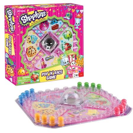 Pressman Toy Shopkins Pop 'N' Race Game - Classic Game with Shopkins Theme