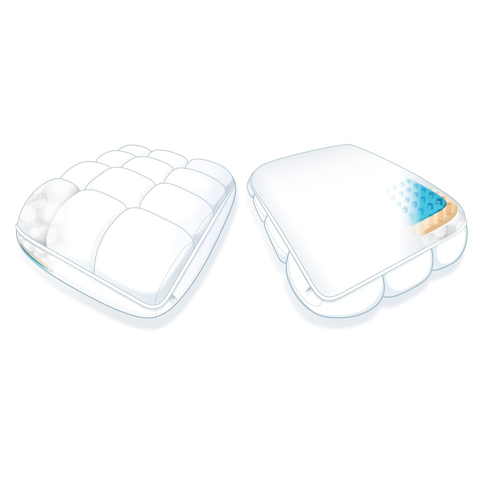 sub 0 softcell chill hybrid cooling pillow white