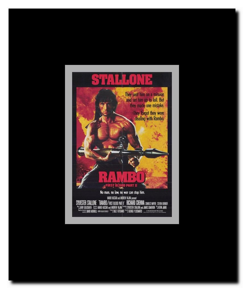 Rambo: First Blood Part 2 Framed Movie Poster - Walmart.com